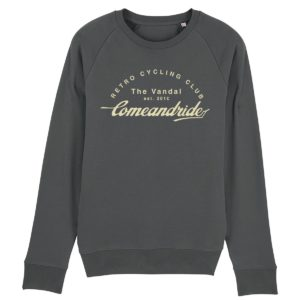 come and ride sweater antraciet
