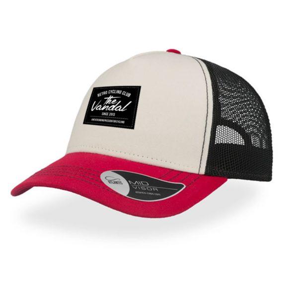 rapper trucker cap rood