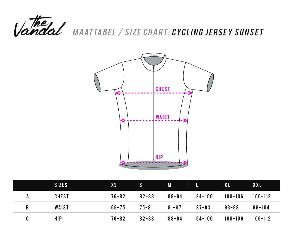 sizing cycling jersey sunset